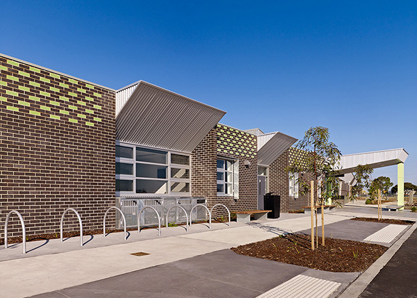 community centre at Arndell Park Reserve in Truganina, community and recreation space including kindergarten, brick