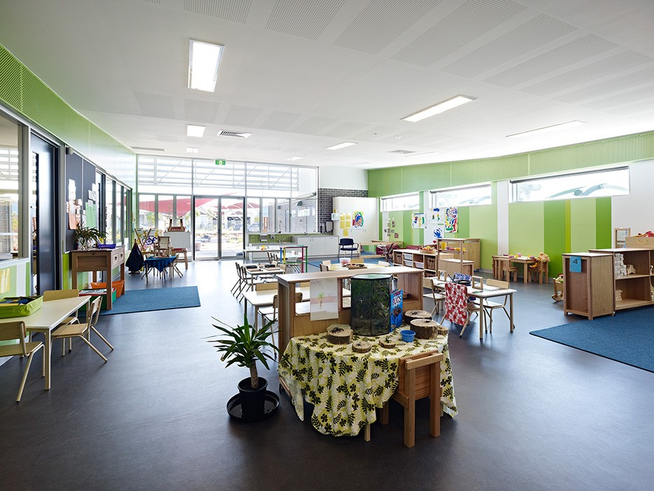 community centre at Arndell Park Reserve in Truganina, community and recreation space including kindergarten, brick