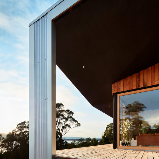 angled roofline and big windows - building photographer example / concept