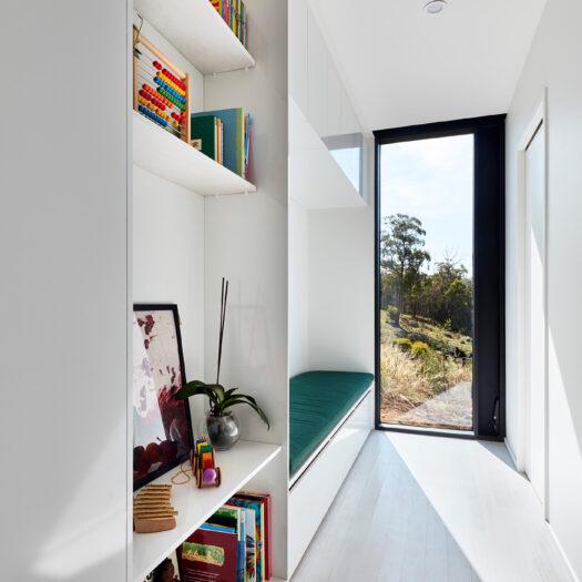 hallway in Tamar House, Tasmania - building photographer example / concept