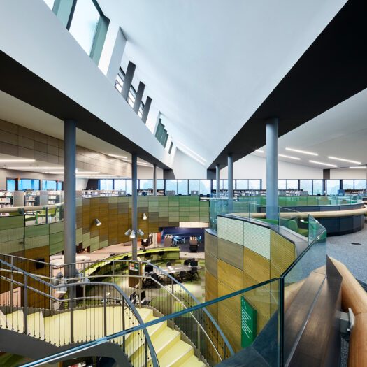 Springvale Library and Community Hub green ground and first floor views - structure photographer example / concept